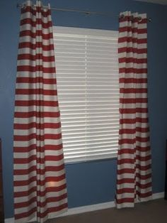 smaller red horizontal stripes for my craft room