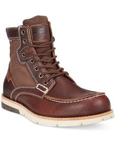 Levi\'s® Dawson Canvas Moc-Toe Boots - Boots - Men - Macy\'s