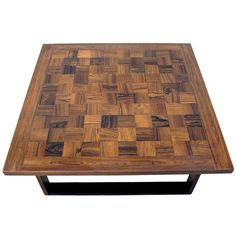 Danish Modern Parquet Rosewood Coffee Table by Finn Juhl   From a unique collection of antique and modern coffee and cocktail tables at https://www.1stdibs.com/furniture/tables/coffee-tables-cocktail-tables/