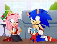Sonic The Hedgehog, Shadow The Hedgehog, Amy Rose, Sonic Y Amy, Sonamy Comic, Chubby Babies, Villainous Cartoon, Sonic Adventure, Sonic Fan Characters