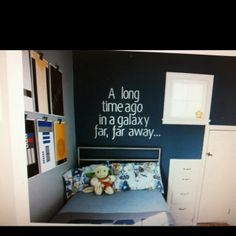 Love this for Noodles Star Wars bedroom!