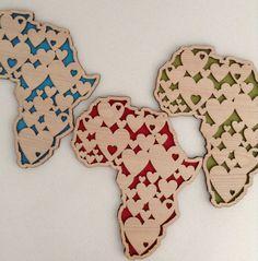 What's Cutting, Wall art, Africa Hearts, laser cut Wooden Wall Art, Wood Art, African Room, Durban South Africa, Memory Frame, Laser Cutter Ideas, Cnc Wood, Africa Art, Cut Image