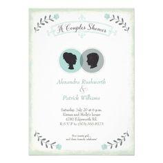 His Hers Silhouettes Invitation S Shower Invitationsunique Wedding