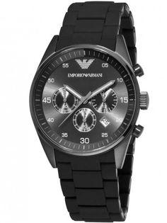 #armaniwatch - 26% OFF. http://bucksme.com/share/3376  Emporio Armani Mens Black Sports Watch.