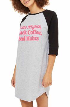 Main Image - Topshop Bad Habits Sleep Shirt