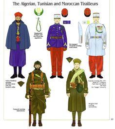 The Algerian, Tunisian and Moroccan Tirailleurs