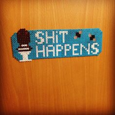 Shit Happens - Toilet sign hama beads by glade_perler