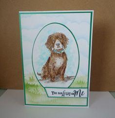 Created by Sharon Goold using Sheena Douglass A Little Bit Sketchy - Lean On Me. Sheena Douglass, Lean On Me, Spectrum Noir, Crafters Companion, Embossing Folder, Cat Lovers, Card Ideas, Stencils, Dog Cat