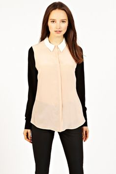 SIlk Color Block Shirt from Oasis UK #fashion #style #spring2013