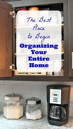 How to get started organizing your home -- without feeling overwhelmed! Organizing tips, resources and DIY ideas