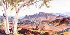 Image result for albert namatjira artwork Artwork, Painting, Image, Work Of Art, Auguste Rodin Artwork, Painting Art, Paintings, Drawings