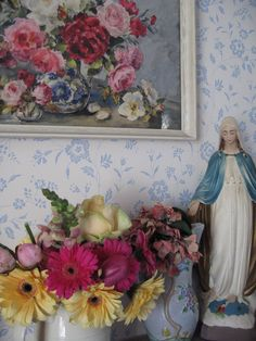 Virgin Mary in the lounge