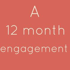 12 Month Engagement Wedding Planning Checklist