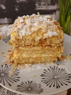 New Recipes, Cooking Recipes, Greek Recipes, Greek Pastries, Greek Sweets, Puff Pastry Recipes, Vanilla Cake, Desserts, Food