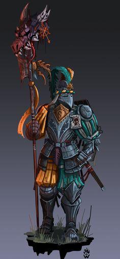 Wolfdawgartcorner (u/Wolfdawgartcorner) - Reddit Warhammer Art, Warhammer Fantasy, Fantasy Battle, By Your Side, Fantasy Characters, Weapons, Religion, Steel, Character Art