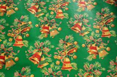 Vintage Bells Christmas Wrapping Paper by the by BingusPingusPaper