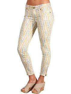 Free People - Ethnic Print Skinny Crop Jean