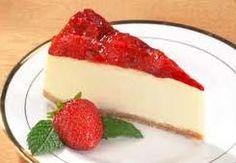 Cheesecake c/ Geléia de Morango sem glúten