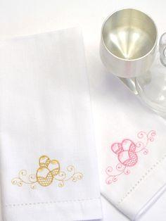 Elegant Easter Egg Embroidered Cloth Napkins - Set of 4 napkins