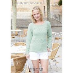 Ladies Sweater in Sirdar Country Style DK (9721) £2.99