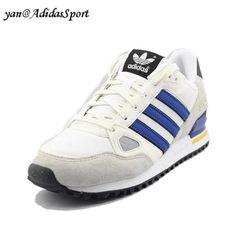 Hombres Adidas Originals ZX 750 Zapatillas de Running Beige/Azul Real/Blanco /Negro