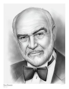Sean Connery Sketch of the Day - Wednesday, September 2017 Sir Thomas Sean Connery (/ˈʃɔːn ˈkɒnəri/; Sean Connery - Sketch of the Day Celebrity Caricatures, Celebrity Drawings, Celebrity Portraits, Famous Portraits, Cool Art Drawings, Art Drawings Sketches, Horse Drawings, Drawing Art, Pencil Portrait