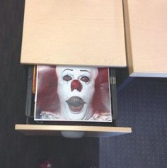 29 Insanely Easy Pranks You Need To Play On April Fools Day - Prank - Prank meme - - Print out a horrifying image and leave it in a coworkers desk drawer. Funny Office Pranks, Work Pranks, Funny Pranks For Kids, Funny April Fools Pranks, Pranks To Pull, April Fools Day Jokes, Best April Fools, School Pranks, Kids Pranks