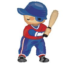 Batter Up!! Baseball Player Balloon! #burtonandburton #sport