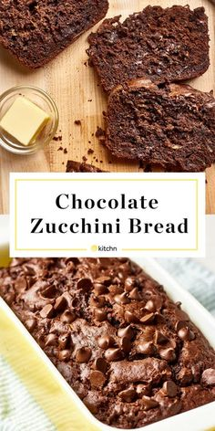 Home Made Doggy Foodstuff FAQ's And Ideas Recipe: Double Chocolate Zucchini Bread Dessert Recipes From The Kitchn Köstliche Desserts, Delicious Desserts, Dessert Recipes, Yummy Food, Zucchini Bread Recipes, Recipe Zucchini, Healthy Zucchini Bread, Amish Bread Recipes, Zucchini Cookies