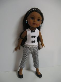 Hearts 4 Hearts Doll Clothes Bows Black by 123MULBERRYSTREET, $22.00