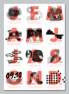 Design by Julie Rousset. Killing it. This makes me want to print in b&w +1 color. Super interesting design.