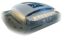 Makieta stadionu w Poznaniu skala 1:250