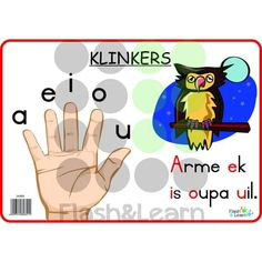 Klinkers Available in Afrikaans only Grade R Worksheets, Phonics Worksheets, Animals Name In English, Afrikaans Language, Kids Poems, Kindergarten Lesson Plans, Toddler Development, Teaching Aids, Writing Words