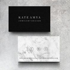 One of a Kind OOAK Premade Business Card Design Branding // Minimalistic Marble Business Card