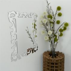 Wall Mount Mirror Modern Ornate Rococo Design by UrbanAnalog, Etsy