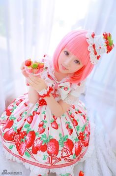 cute kawaii beautiful pink lolita pretty sweet lolita