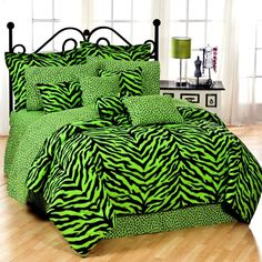 Karin Maki Lime Green Zebra Bedding By Karin Maki Bedding, Comforters, Comforter Sets, Duvets, Bedspread, Quilts, Sheets & Pillows: The Home Decorating Company