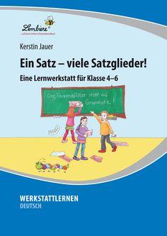 Jeder Satz besteht aus verschiedenen Gliedern. In dieser Werkstatt lernen die Kinder Subjekt, Prädikat, die adverbialen Bestimmungen des Ortes, der Zeit, der Art & Weise, des Grundes & die Ergänzungen im 2., 3. & 4. Fall kennen. Sie werden mit den Fachbegriffen vertraut & üben, die Satzglieder gezielt zu erfragen & zu bestimmen. Einige Stationen liegen in 2 Differenzierungsstufen vor. #Lernbiene #Grundschule #Sekundarstufe #Unterrichtsmaterial #Deutsch #Grammatik #differenziert…