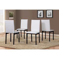 5 Piece Citico Metal Dinette Set with Laminated Faux Marble Top (White), Size 5-Piece Sets