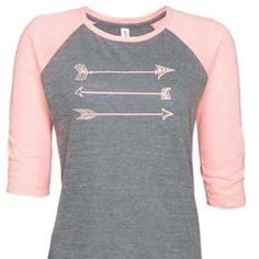 Plus Size Ladies Vintage Baseball Jersey Primitive Arrow Design Adies... ($28) ❤ liked on Polyvore