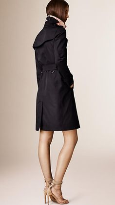 Navy The Kensington - Long Heritage Trench Coat - Image 2