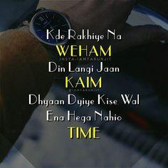 ♡• Gurbani Quotes, Truth Quotes, People Quotes, Mood Quotes, Positive Quotes, Qoutes, Punjabi Attitude Quotes, Punjabi Love Quotes, Situation Quotes