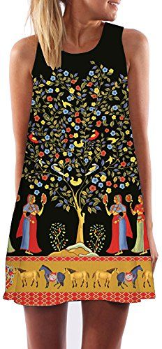 3876c953ff Women Sleeveless Printed Styled are best for Casual need! This attire is  made of best Chiffon styled in Floral Tunic One-Piece Dress Top featured by  Brand ...