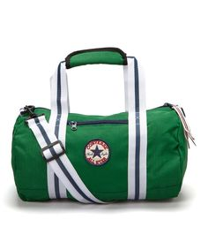 4e56b602387f Converse Green Chuck Patch Tube Duffel Bag