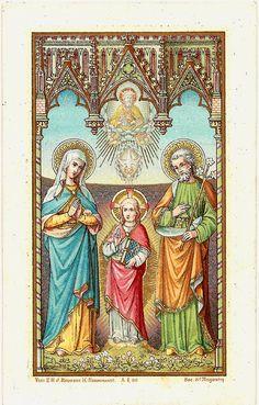 Holy Family Joseph Mary & Baby Jesus Antique by 12StarsVintage
