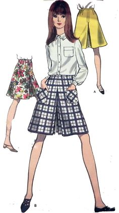 Vintage Vogue 7151 Pattern Culottes by retroactivefuture on Etsy, $4.00