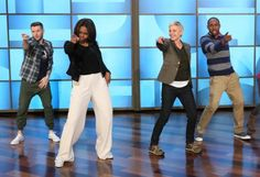 Michelle Obama Dance With Ellen DeGeneres  5 photos  Morably