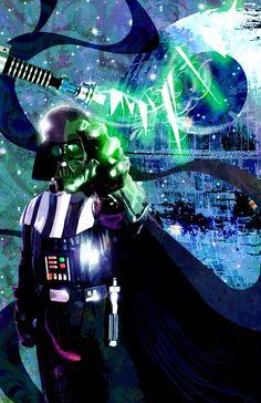 Star Wars - Darth Vader by Sean Anderson Star Wars Art, Star Trek, Starwars, All Star, Amidala Star Wars, Saga, Evil Empire, Darth Vader, The Best Films
