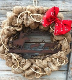 Western Rustic Wreath by HomemadeSouthern on Etsy, $65.00