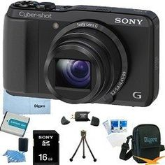 Sony Cyber-shot DSC-HX20V HX20 DSCHX20V 18.2 MP Exmor R CMOS Digital Camera with 20x Optical Zoom and 3.0-inch LCD (Black) BUNDLE with Sony 16GB Card, Spare Battery, Card Reader, Case, Mini Tripod, LCD Screen Protectors, Lens Cleaning Kit, Microfiber Clea by Sony. $379.00. Get extremely close with the ultra-stabilized 20X optical/40X Clear Image zoom on the Sony DSC-HX20V, and capture detailed pictures and Full HD 1080/60p videos with its 18.2MP sensor. Picture Effects, P...